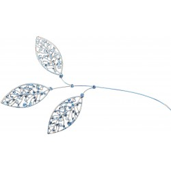 Lacey Leaves - Silver (23cm Long)