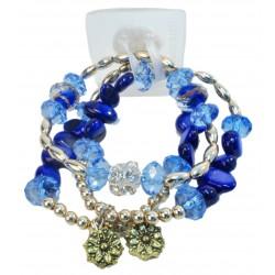 Nadya Corsage Bracelet - Blue
