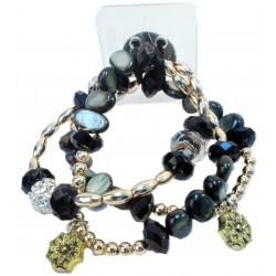 Nadya Corsage Bracelet - Black