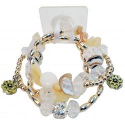 Nadya Corsage Bracelet - White