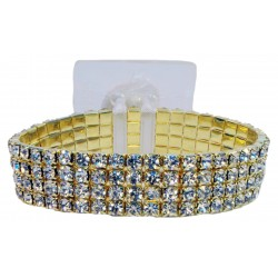 Rock Candy Corsage Bracelet - Gold