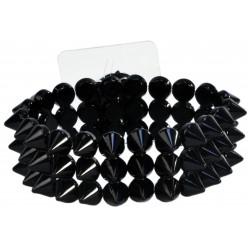 The Rocker Corsage Bracelet - Black