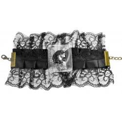 Vintage Lace Victoria Corsage Bracelet - Black