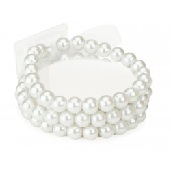 Avery Corsage Bracelet - White