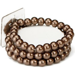 Avery Corsage Bracelet - Brown