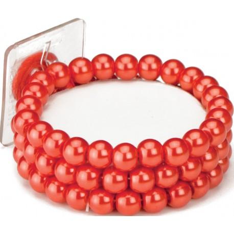 Avery Corsage Bracelet - Red
