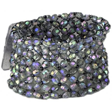 Classic Black Iridescent Corsage Bracelet