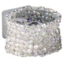 Classic Clear Iridescent Corsage Bracelet