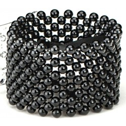 Classic Black Corsage Bracelet