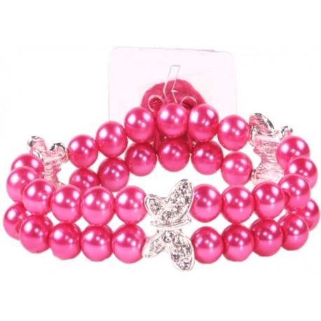 Dancing Butterflies Corsage Bracelet - Pink