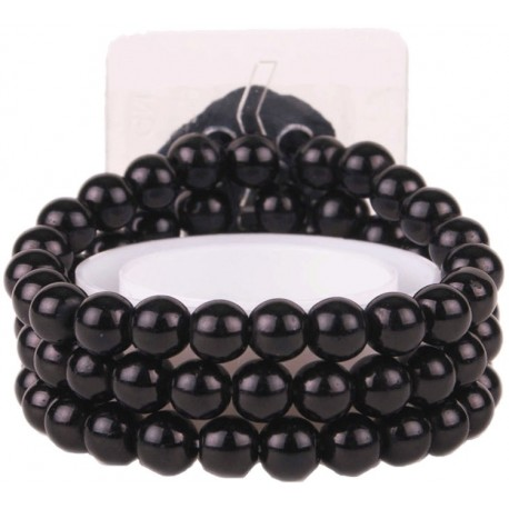 Delicate Corsage Bracelet - Black (6cm diameter)
