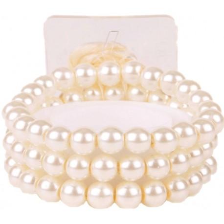 Delicate Corsage Bracelet - Cream (6cm diameter)