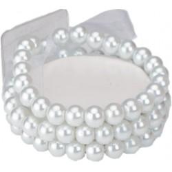Delicate Kid's Corsage Bracelet - White (6cm diameter)