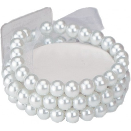 Delicate Corsage Bracelet - White (6cm diameter)