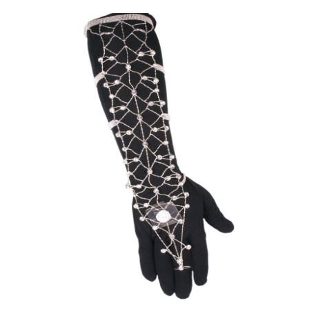 Delilah Arm Corsage - Silver