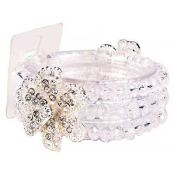 Diamond Rose Corsage Bracelet - Clear
