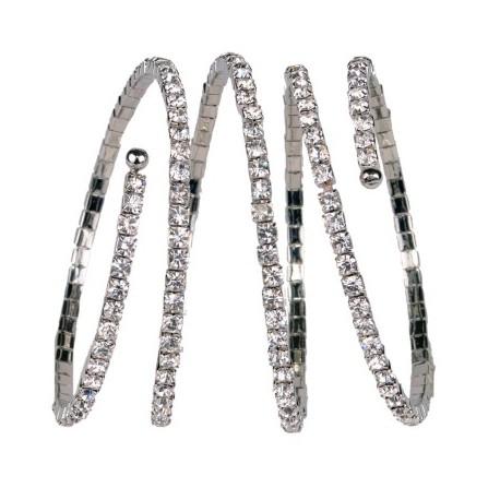 Eye Candy Corsage Bracelet - Silver