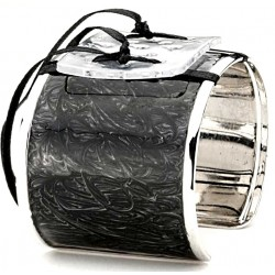 Enchanted Cuff Black Corsage Bracelet