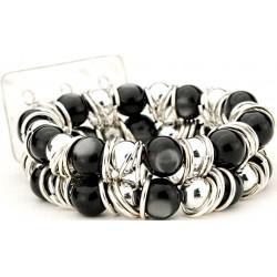 Gum Drops Black Corsage Bracelet