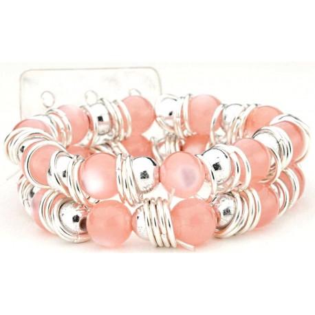 Gum Drops Pink Corsage Bracelet