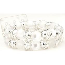 Gum Drops White Corsage Bracelet