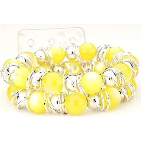 Gum Drops Yellow Corsage Bracelet