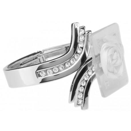 Imperial Corsage Cuff - Silver