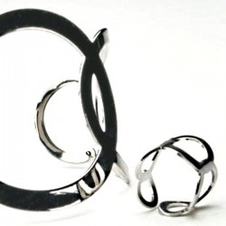 Odyssey Corsage Bracelet and Ring - Silver