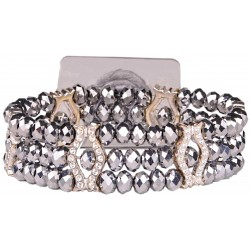 Paparazzi Corsage Bracelet - Silver