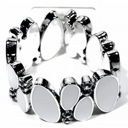 Retro Corsage Bracelet - White