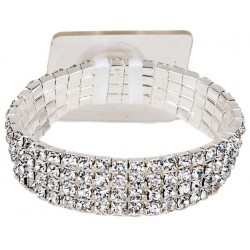 Rock Candy Corsage Bracelet - Silver