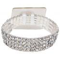 Rock Candy Silver Corsage Bracelet