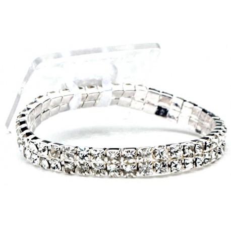 Sophisticated Lady Silver Corsage Bracelet