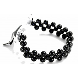 Special Day Black Corsage Bracelet (Pack of 4, 7cm diameter)
