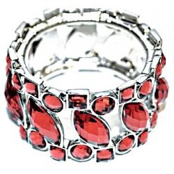 Splendid Time Corsage Bracelet - Red
