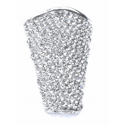 Diamond Horizon Boutonniere Holder - Silver