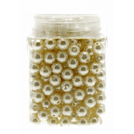 10mm Pearl - Cream (150g, Approx 360 Pcs Per Pk)