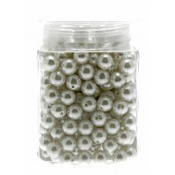 8mm Pearl - White (150g, Approx 624 Pcs Per Pk)