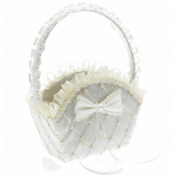 Alice Flower Girl Bag - Cream (22cm height x 16 diameter)