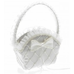 Alice Flower Girl Bag - White (22cm High)