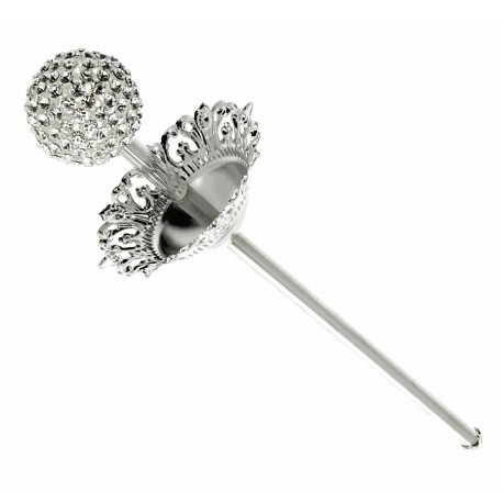 Crystal Ball Scepter - Silver (36cm)
