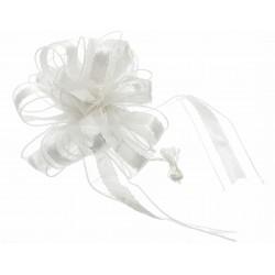 Florence Wedding Pull Bow - White (4cm x 2.5m, 12pcs per pk)