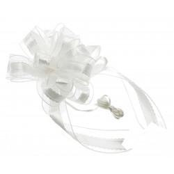 Florence Wedding Pull Bow - Cream (4cm x 2.5m, 12pcs per pk)