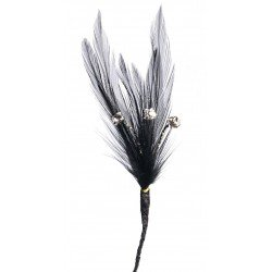 Flutters Feathers - Black (15cm Long, 3 pcs per pack)