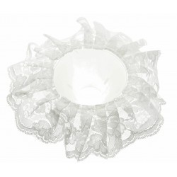 Lace Bouquet Frill - White (20cm Diameter)