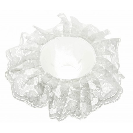 Lace Bouquet Frill - White (25cm Diameter)