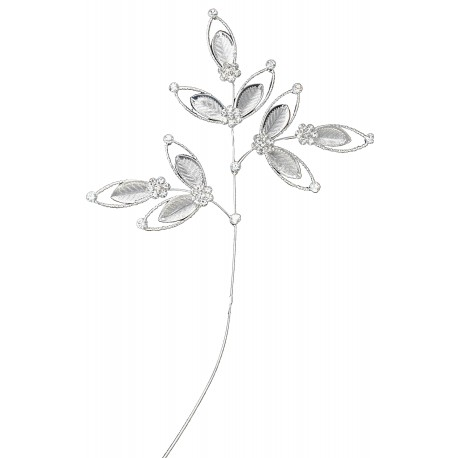 Spectacular Leaf Spray - Silver (24cm long)