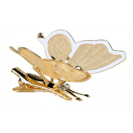 Wings Butterfly Clip - Gold (6 Per Pk, 4cm)