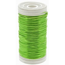 Metallic Wire - Lime Green (0.5mm x 100g)