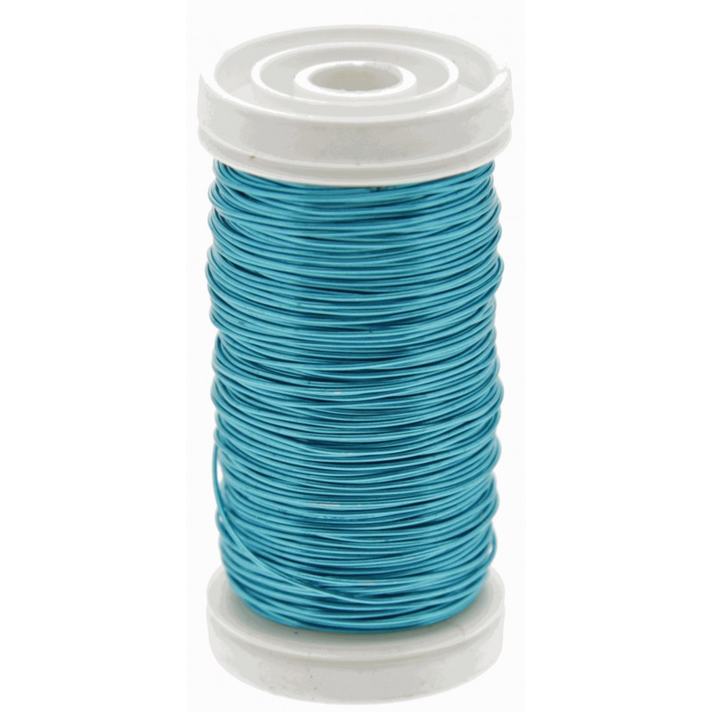 Metallic Wire - Turquoise (0.5mm x 100g) - Corsage Creations